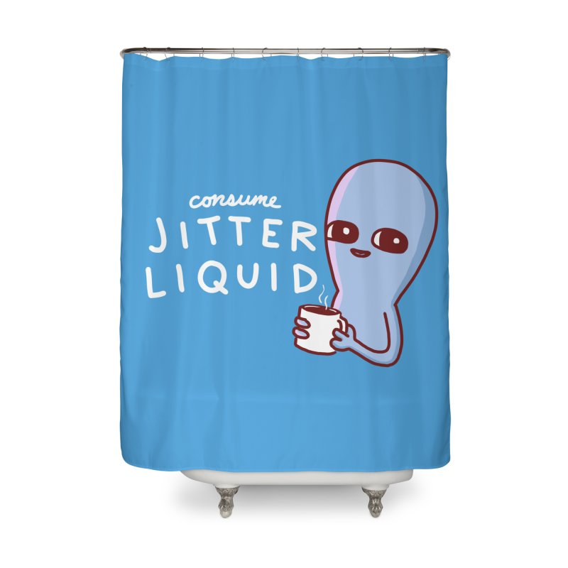 STRANGE PLANET: CONSUME JITTER LIQUID Home Shower Curtain by Nathan W Pyle Shop | Strange Planet Store | Thread