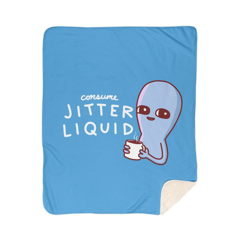 STRANGE PLANET: CONSUME JITTER LIQUID Home Blanket by Nathan W Pyle