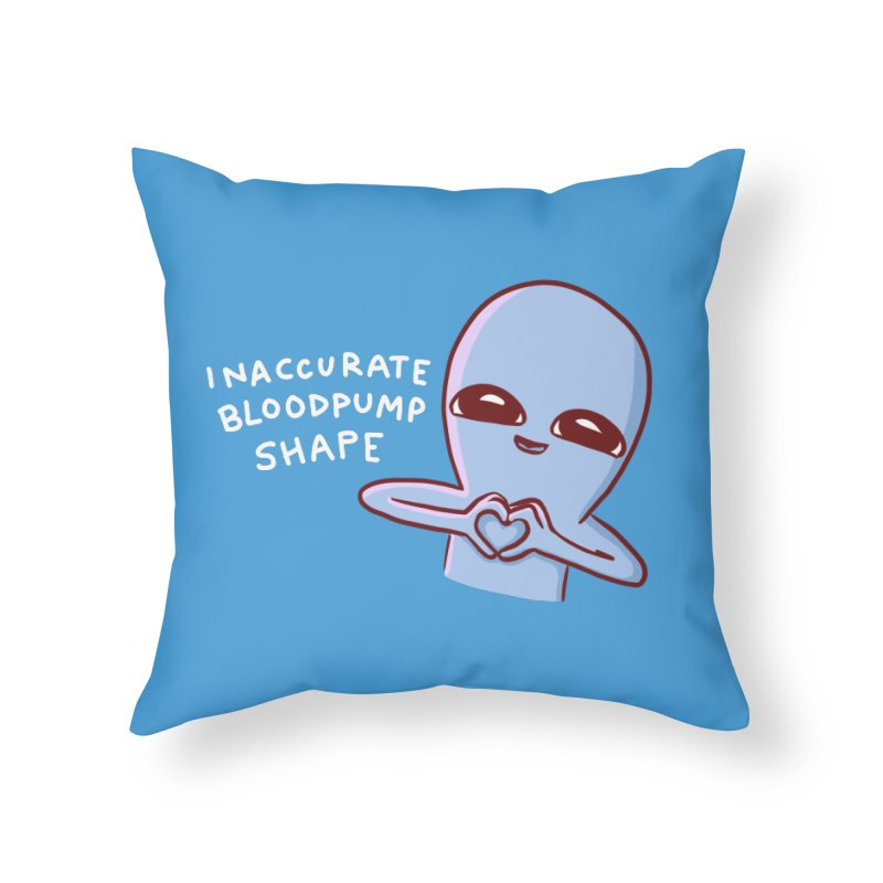 STRANGE PLANET SPECIAL PRODUCT: INACCURATE BLOODPUMP SHAPE Home Throw Pillow by Nathan W Pyle Shop | Strange Planet Store | Thread