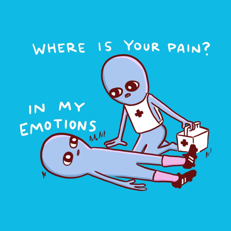 STRANGE PLANET SPECIAL PRODUCT: WHERE IS YOUR PAIN? IN MY EMOTIONS Accessories Skateboard by Nathan W Pyle