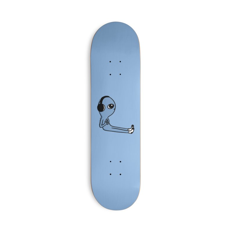 CENTERED HEADPHONES LIMB ELEVATION BEING - BLUE Accessories Skateboard by Nathan W Pyle