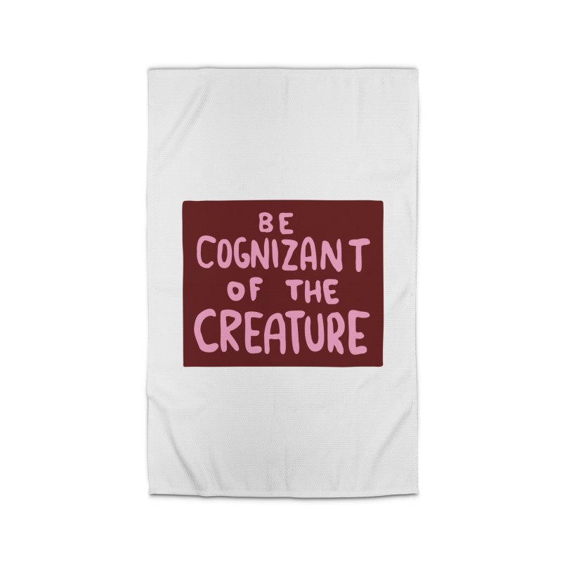 BE COGNIZANT OF THE CREATURE v2 Home Rug by Nathan W Pyle Shop | Strange Planet Store | Thread