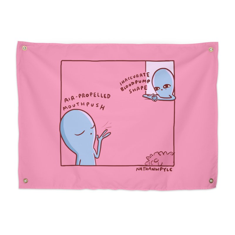 STRANGE PLANET SPECIAL PRODUCT: MOUTHPUSH & BLOODPUMP SHAPE Home Tapestry by Nathan W Pyle Shop | Strange Planet Store | Thread