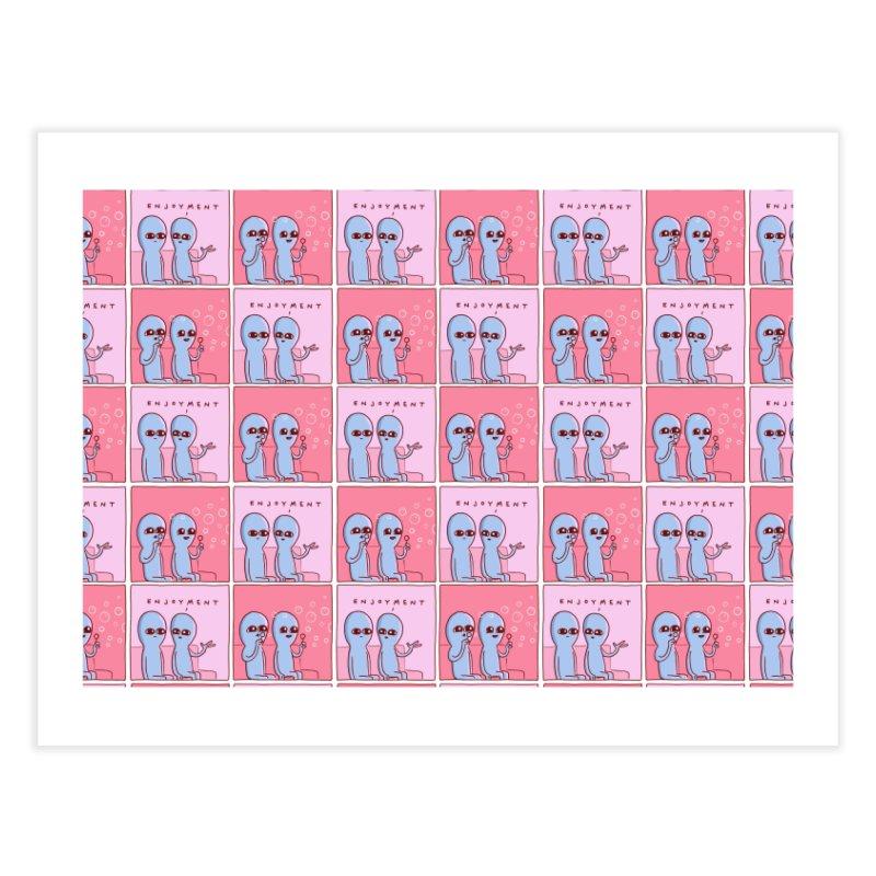 Strange Planet Special Product: Enjoyment Pattern Home Fine Art Print by Nathan W Pyle Shop   Strange Planet Store   Thread