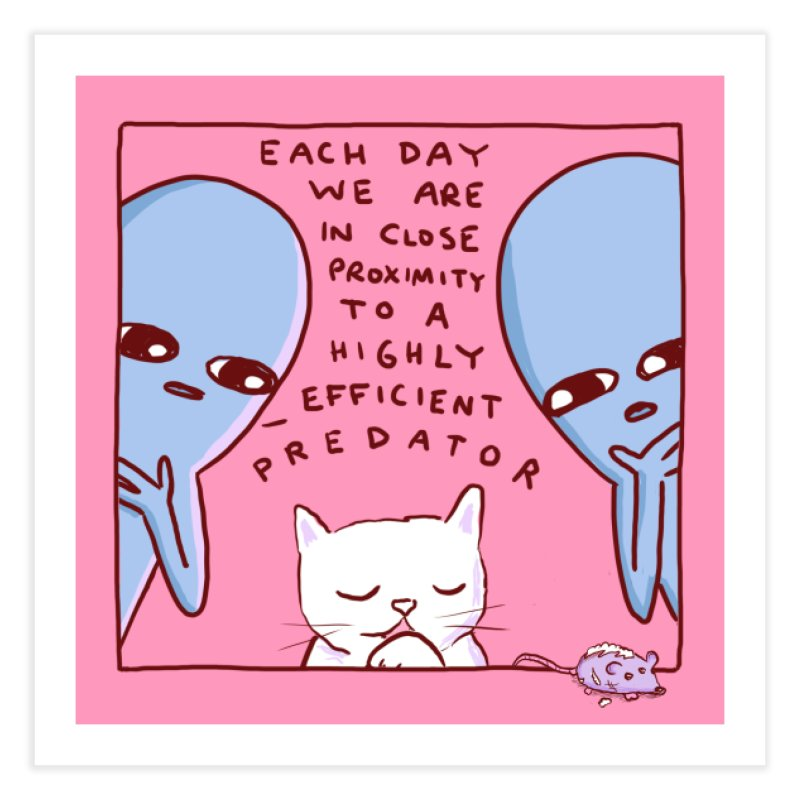 STRANGE PLANET SPECIAL PRODUCT: EFFICIENT PREDATOR Home Fine Art Print by Nathan W Pyle Shop | Strange Planet Store | Thread