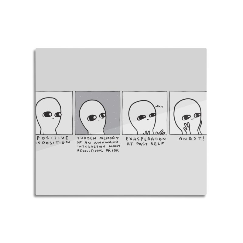 Strange Planet: Angst Home Mounted Aluminum Print by Nathan W Pyle Shop | Strange Planet Store | Thread