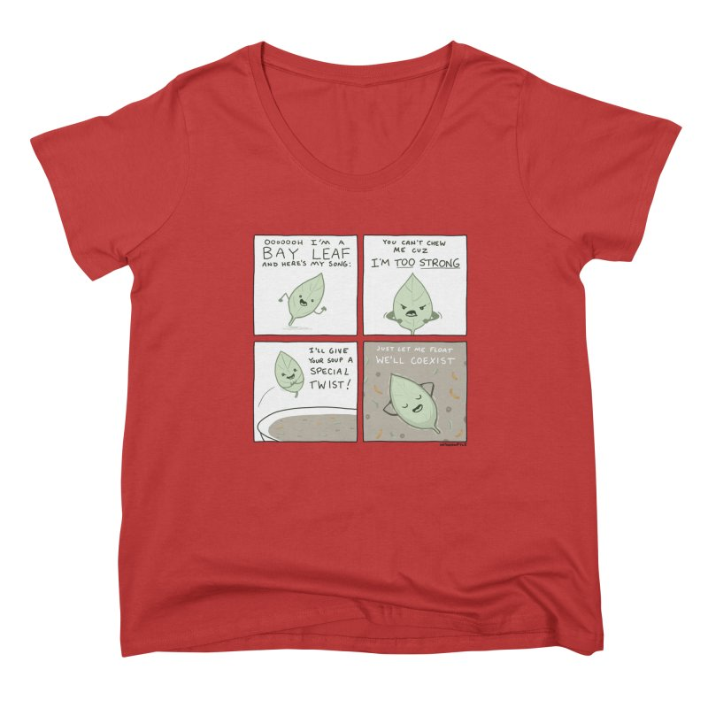 THE BAY LEAF SONG Women's Scoop Neck by Nathan W Pyle Shop | Strange Planet Store | Thread
