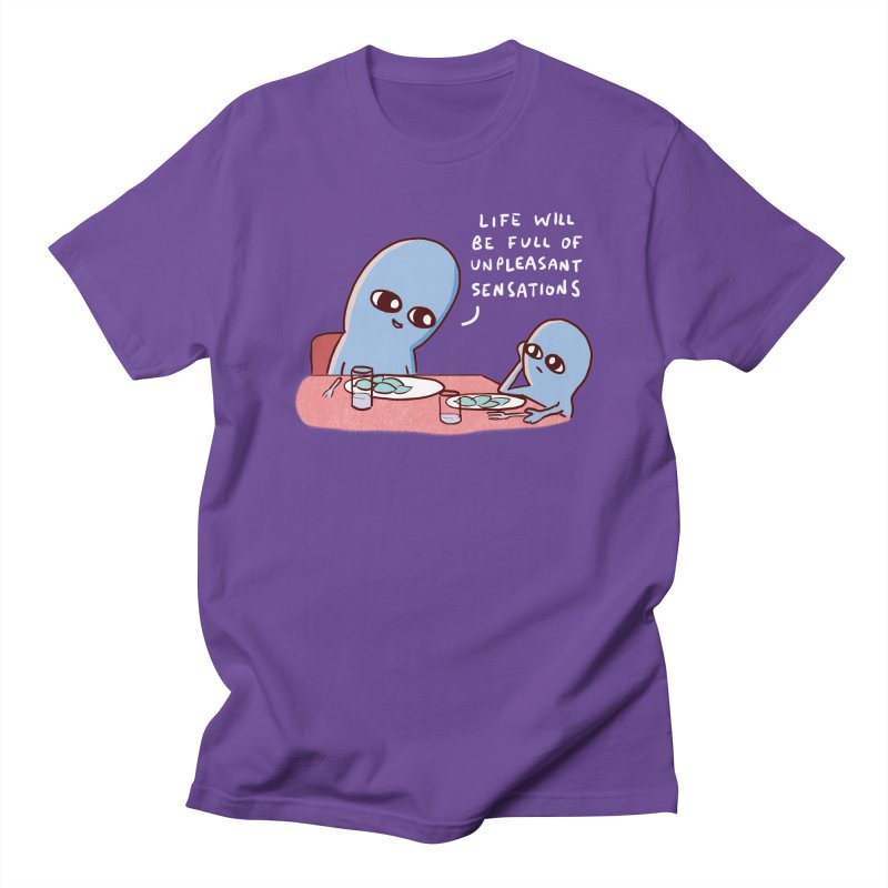 STRANGE PLANET: LIFE WILL BE FULL OF UNPLEASANT SENSATIONS Men's T-Shirt by Nathan W Pyle Shop   Strange Planet Store   Thread
