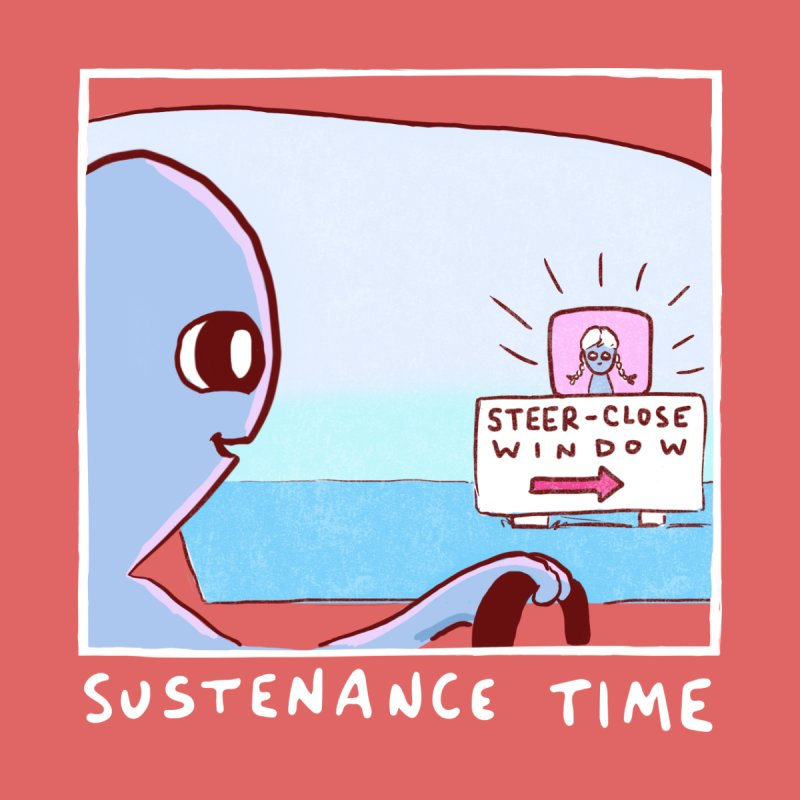 STRANGE PLANET: SUSTENANCE TIME Women's V-Neck by Nathan W Pyle Shop | Strange Planet Store | Thread