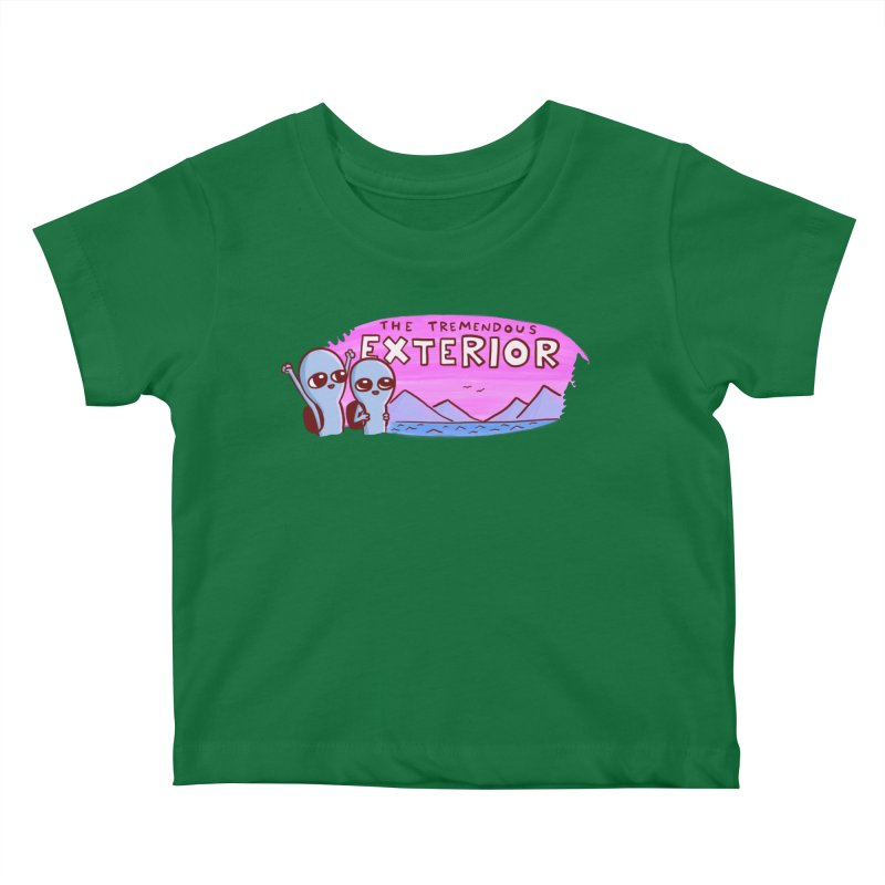STRANGE PLANET: THE TREMENDOUS EXTERIOR Kids Baby T-Shirt by Nathan W Pyle Shop | Strange Planet Store | Thread