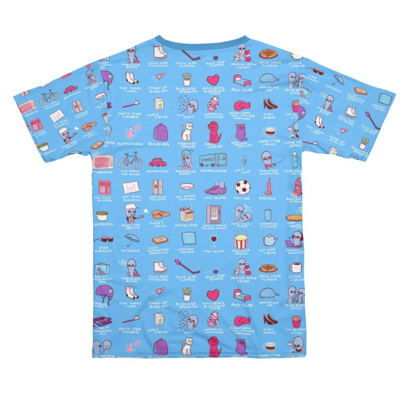 STRANGE PLANET: COMMONLY OBSERVED OBJECTS & BEINGS - BLUE Men's Cut & Sew by Nathan W Pyle Shop | Strange Planet Store | Thread