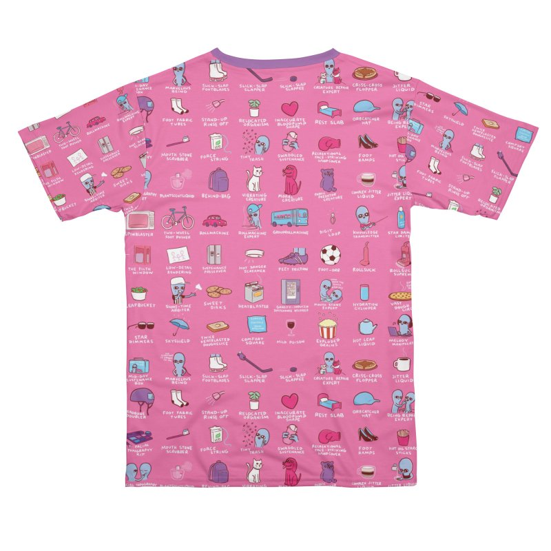 STRANGE PLANET: COMMONLY OBSERVED OBJECTS & BEINGS - PINK Men's Cut & Sew by Nathan W Pyle Shop | Strange Planet Store | Thread