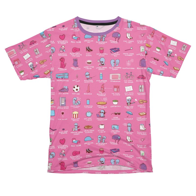 STRANGE PLANET: COMMONLY OBSERVED OBJECTS & BEINGS - PINK Women's Cut & Sew by Nathan W Pyle Shop | Strange Planet Store | Thread