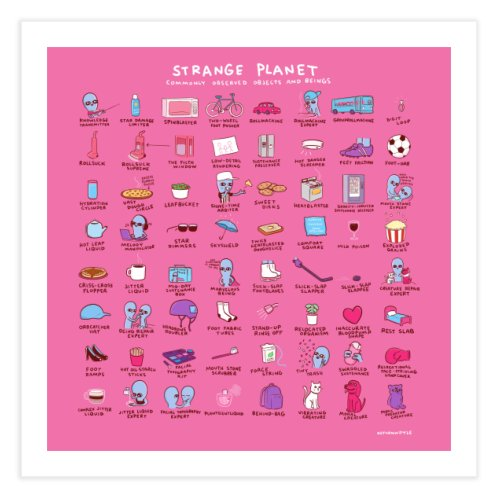 image for STRANGE PLANET: COMMONLY OBSERVED OBJECTS & BEINGS - PINK