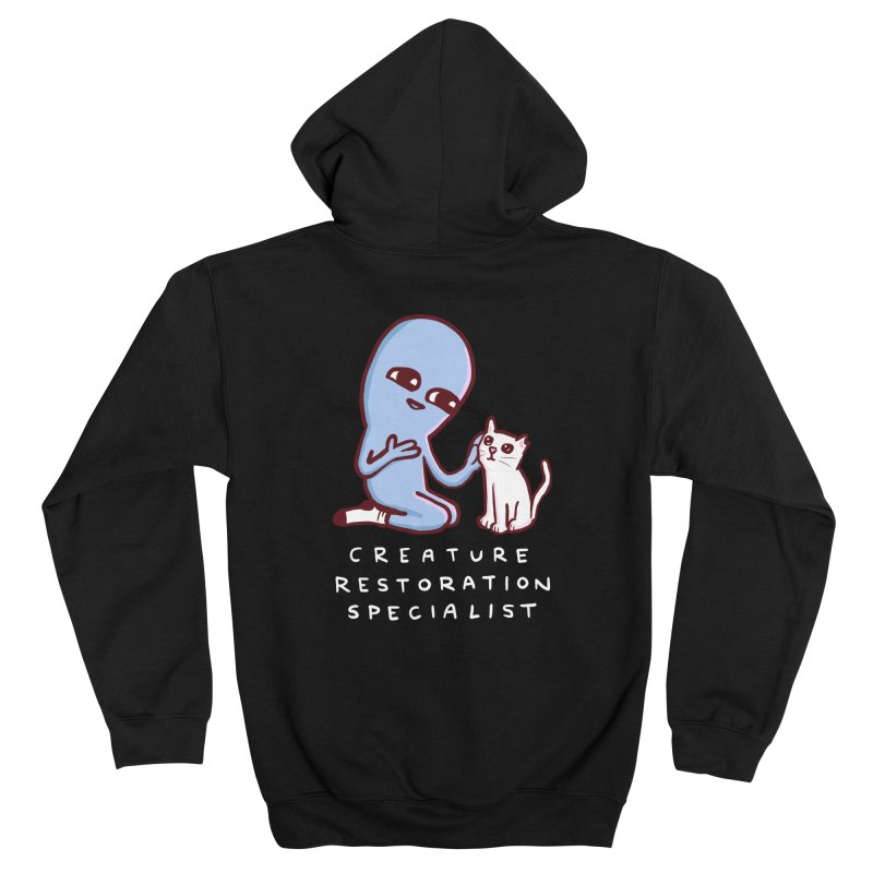 STRANGE PLANET: CREATURE RESTORATION SPECIALIST (VIBRATING CREATURE) Women's Zip-Up Hoody by Nathan W Pyle Shop | Strange Planet Store | Thread