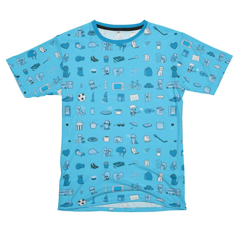 STRANGE PLANET: COMMONLY OBSERVED OBJECTS & BEINGS - MUTED Men's Cut & Sew by Nathan W Pyle Shop | Strange Planet Store | Thread