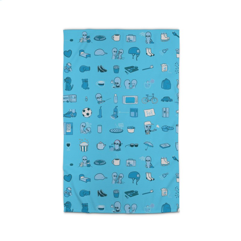 STRANGE PLANET: COMMONLY OBSERVED OBJECTS & BEINGS - MUTED Home Rug by Nathan W Pyle Shop   Strange Planet Store   Thread