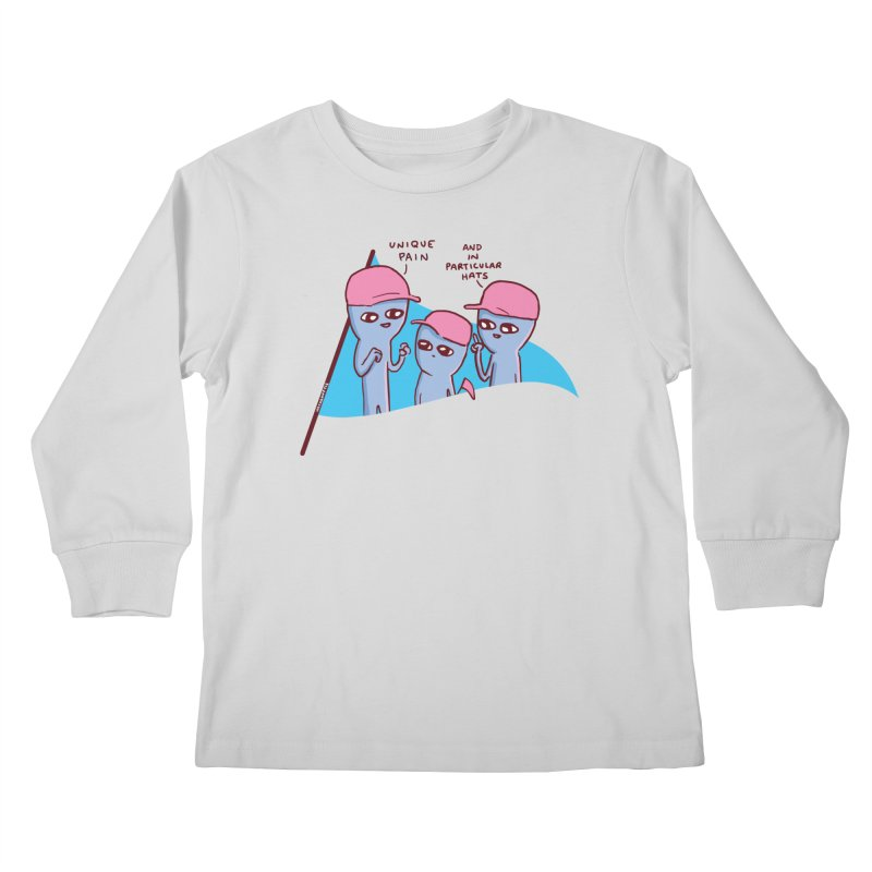 STRANGE PLANET: UNIQE PAIN IN PARTICULAR HATS Kids Longsleeve T-Shirt by Nathan W Pyle Shop | Strange Planet Store | Thread