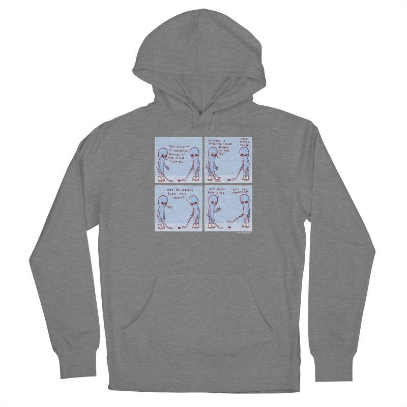 STRANGE PLANET: THIS ACTIVITY IS DANGEROUS BECAUSE OF THE SLICK SURFACE Women's Pullover Hoody by Nathan W Pyle Shop | Strange Planet Store | Thread