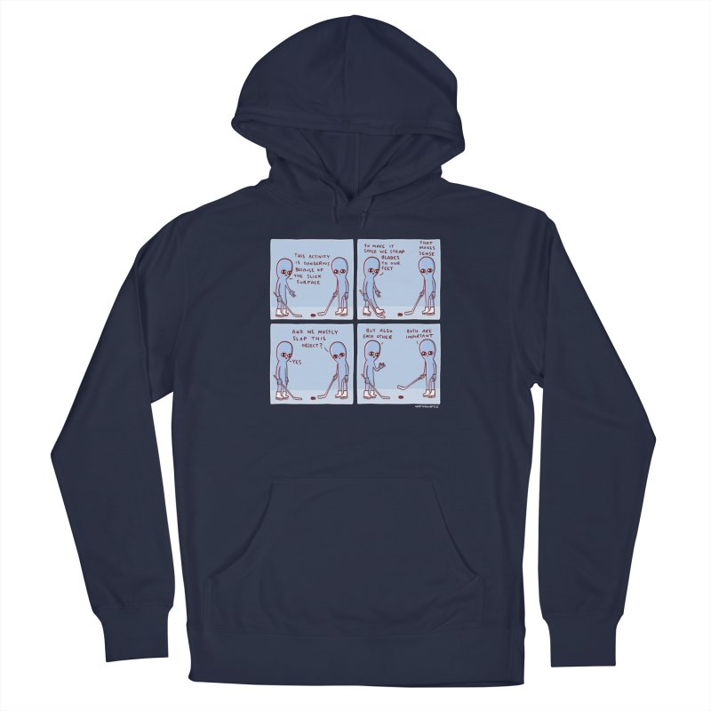 STRANGE PLANET: THIS ACTIVITY IS DANGEROUS BECAUSE OF THE SLICK SURFACE Men's Pullover Hoody by Nathan W Pyle Shop   Strange Planet Store   Thread