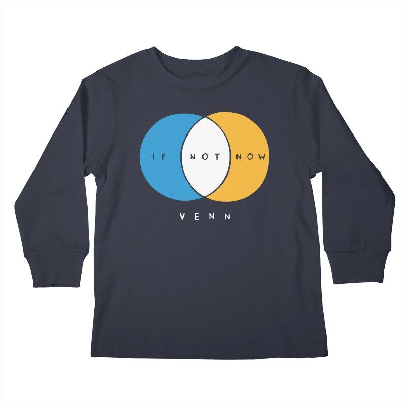 If Not Now Venn Kids Longsleeve T-Shirt by Nathan W Pyle Shop | Strange Planet Store | Thread