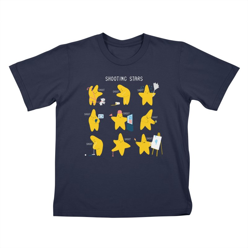 Shooting Stars Kids T-Shirt by nathanwpyle's Artist Shop