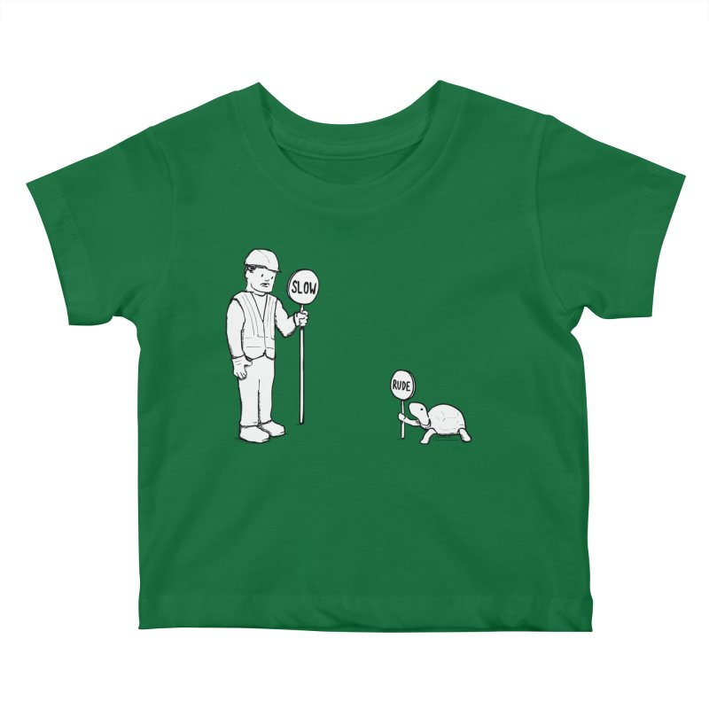 Rude Kids Baby T-Shirt by nathanwpyle's Artist Shop