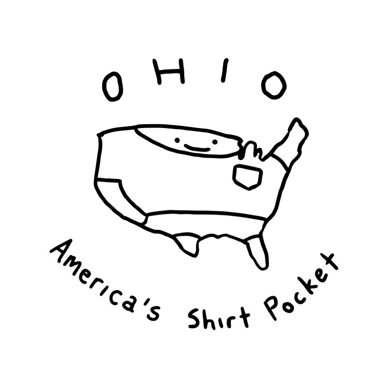 OHIO America's Shirt Pocket Home Throw Pillow by Nathan W Pyle