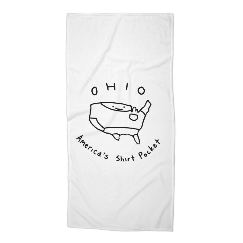 OHIO America's Shirt Pocket Accessories Beach Towel by nathanwpyle's Artist Shop