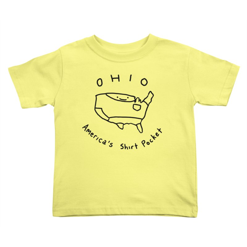 OHIO America's Shirt Pocket Kids Toddler T-Shirt by nathanwpyle's Artist Shop