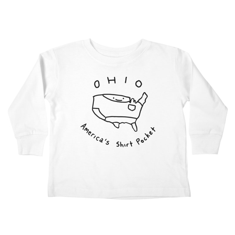 OHIO America's Shirt Pocket Kids Toddler Longsleeve T-Shirt by nathanwpyle's Artist Shop