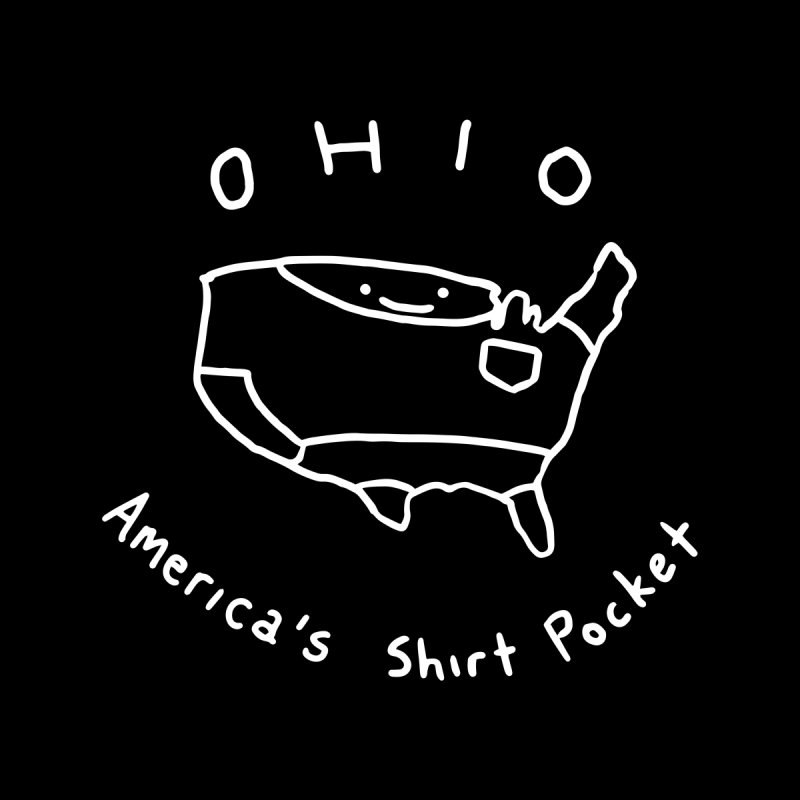 OHIO America's Shirt Pocket (on dark colors) by nathanwpyle's Artist Shop
