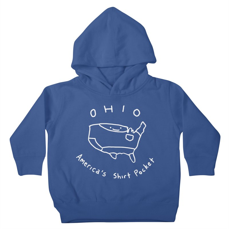 OHIO America's Shirt Pocket (on dark colors) Kids Toddler Pullover Hoody by nathanwpyle's Artist Shop