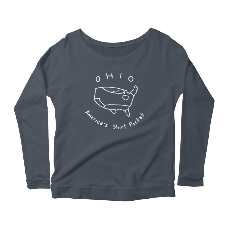 OHIO America's Shirt Pocket (on dark colors) Women's Longsleeve Scoopneck  by nathanwpyle's Artist Shop