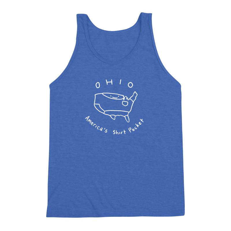 OHIO America's Shirt Pocket (on dark colors) Men's Triblend Tank by nathanwpyle's Artist Shop