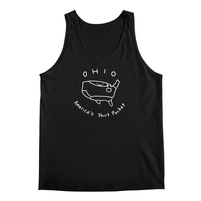 OHIO America's Shirt Pocket (on dark colors) Men's Tank by nathanwpyle's Artist Shop