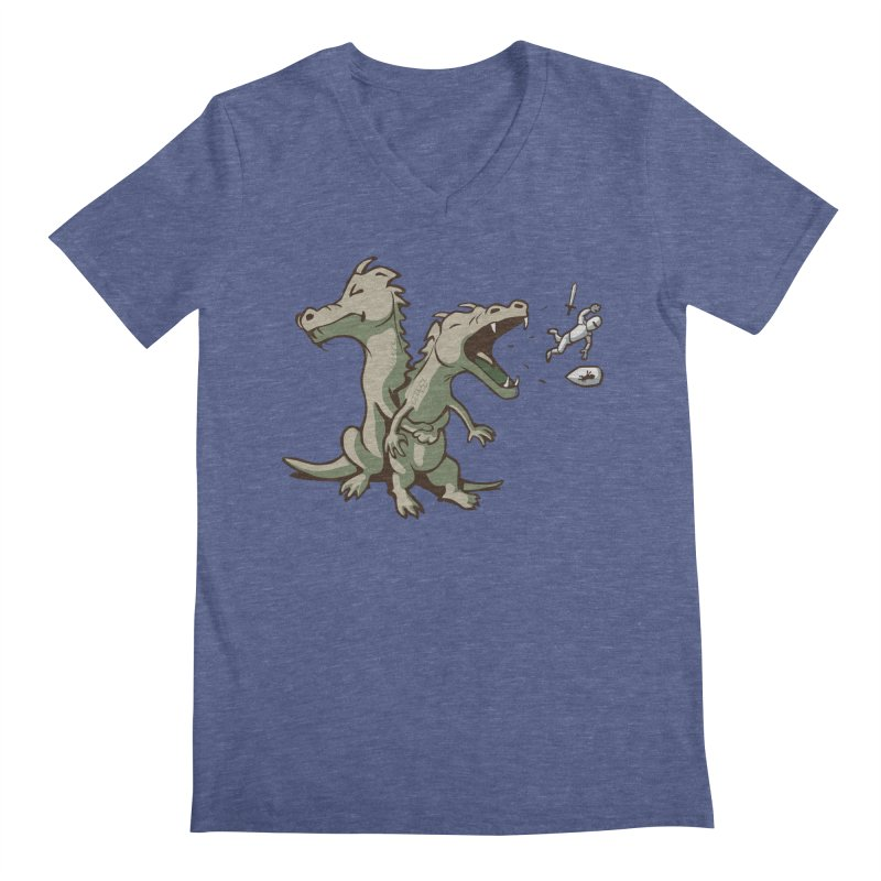 Unlikely Hero Men's V-Neck by nathanwpyle's Artist Shop