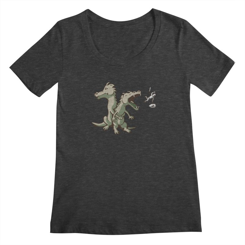 Unlikely Hero Women's Scoopneck by nathanwpyle's Artist Shop