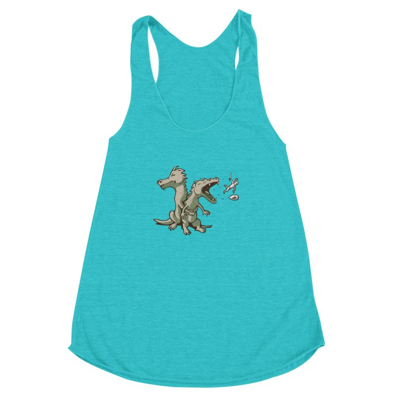 Unlikely Hero Women's Racerback Triblend Tank by nathanwpyle's Artist Shop