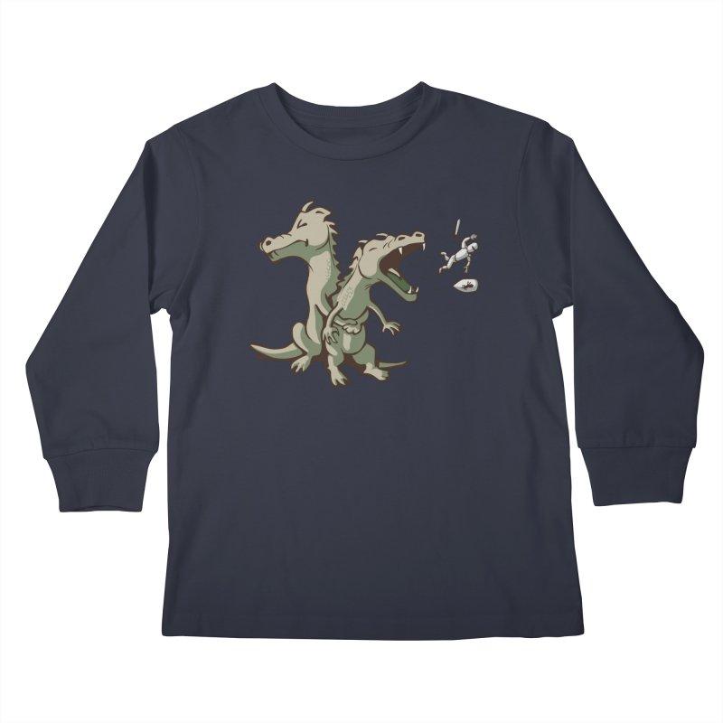 Unlikely Hero Kids Longsleeve T-Shirt by Nathan W Pyle