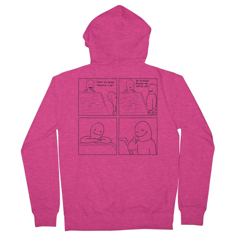Help Women's Zip-Up Hoody by nathanwpyle's Artist Shop