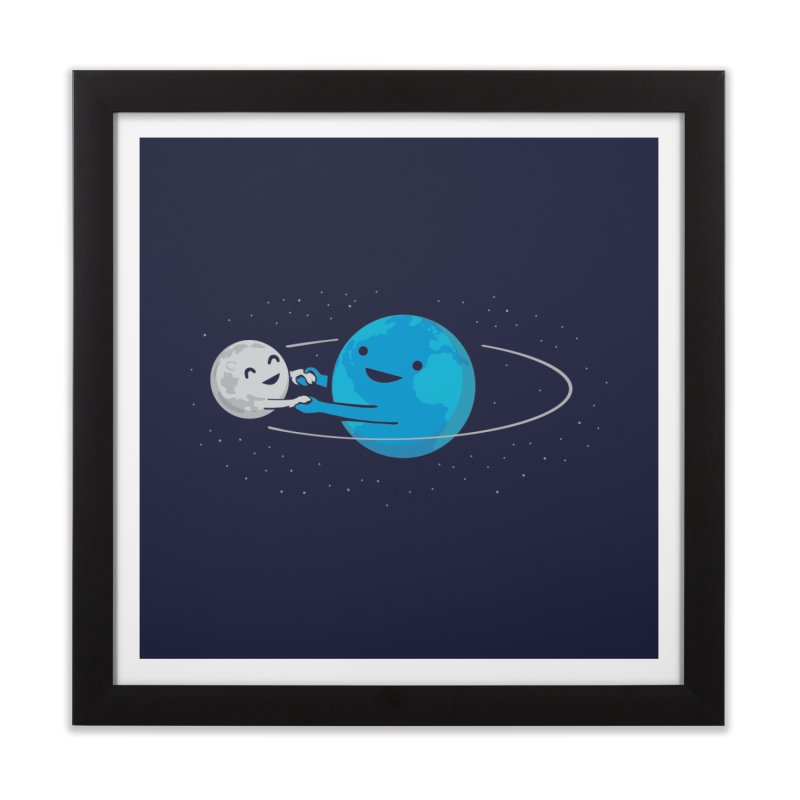 I Love Being Around You (now on BLACK too!) Home Framed Fine Art Print by Nathan W Pyle
