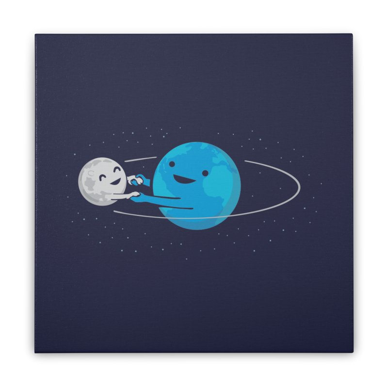 I Love Being Around You (now on BLACK too!) Home Stretched Canvas by nathanwpyle's Artist Shop