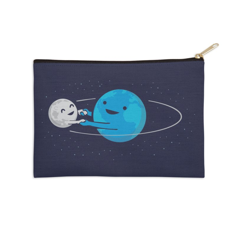 I Love Being Around You (now on BLACK too!) Accessories Zip Pouch by Nathan W Pyle
