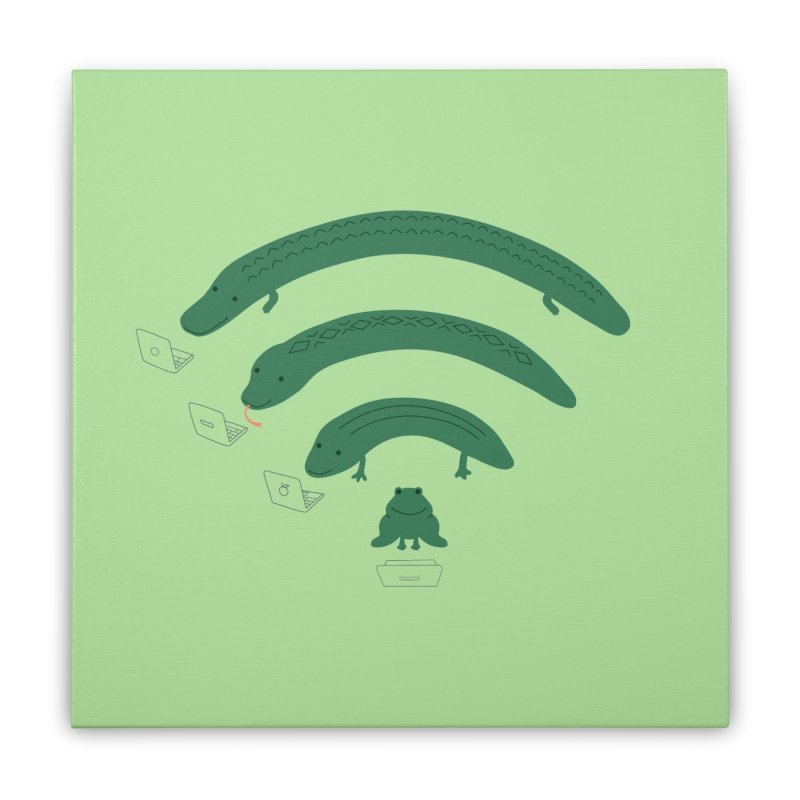 Everybody Loves The Internet Home Stretched Canvas by nathanwpyle's Artist Shop
