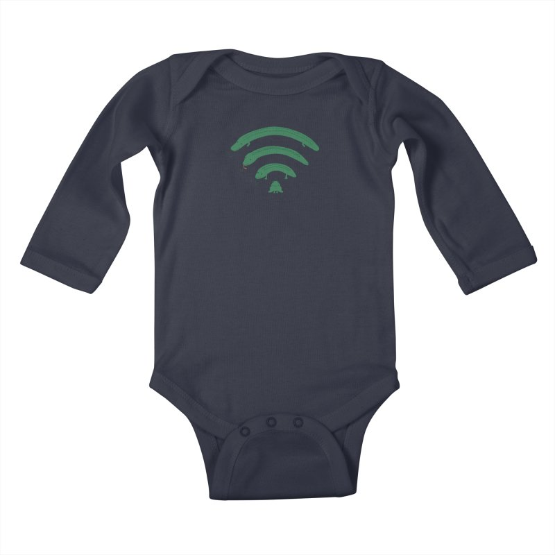 Everybody Loves The Internet Kids Baby Longsleeve Bodysuit by nathanwpyle's Artist Shop
