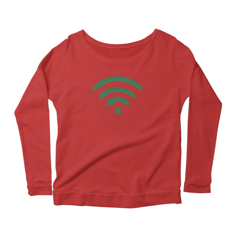 Everybody Loves The Internet Women's Longsleeve Scoopneck  by nathanwpyle's Artist Shop
