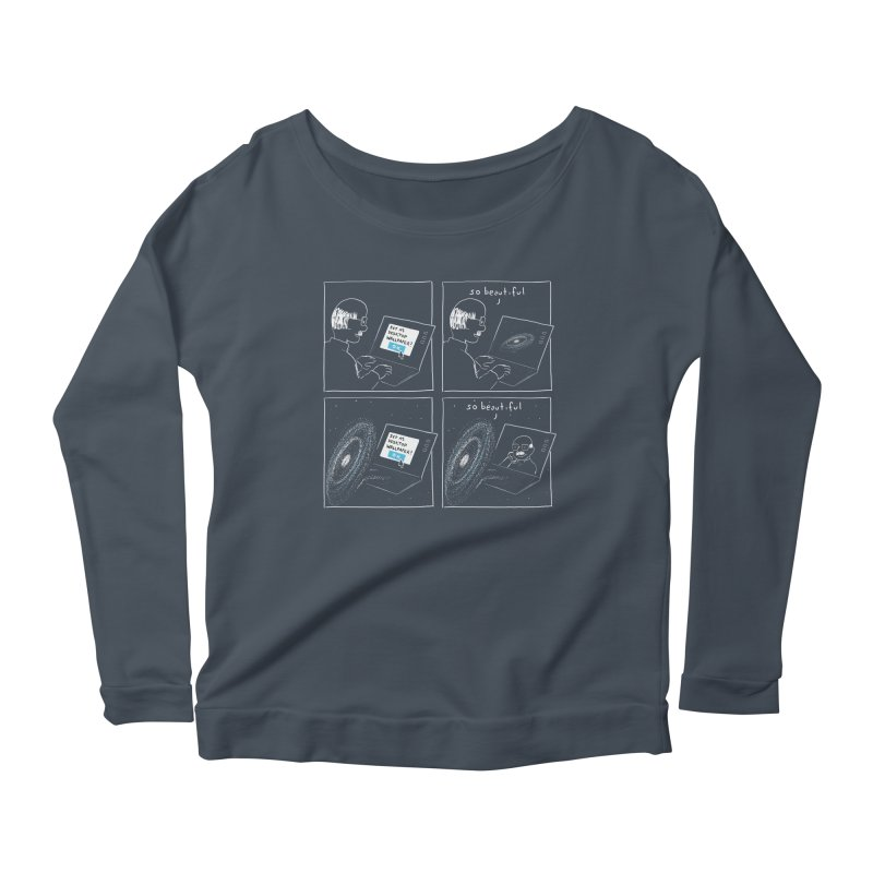 Mutual Admiration Women's Longsleeve Scoopneck  by nathanwpyle's Artist Shop