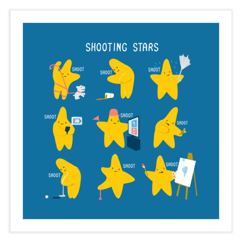 Shooting Stars! Home Fine Art Print by Nathan W Pyle