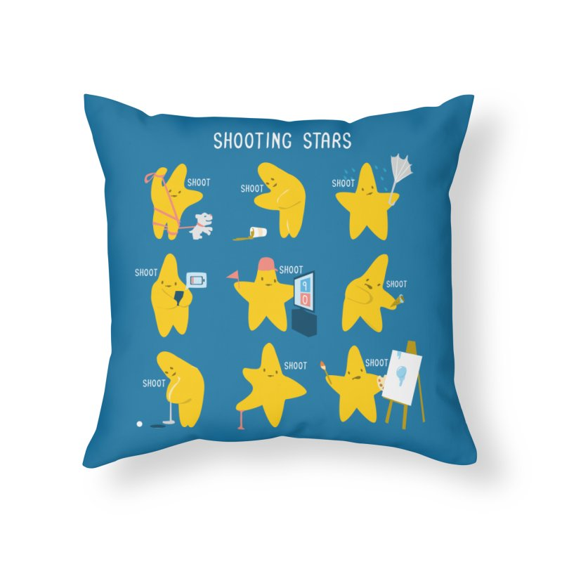 Shooting Stars! Home Throw Pillow by nathanwpyle's Artist Shop